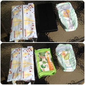 799891111ef If you have a Petunia Pickle Bottom diaper bag, the hard cover wipes case  will fit inside of this pouch, along with two diapers (shown here is Size  3), ...