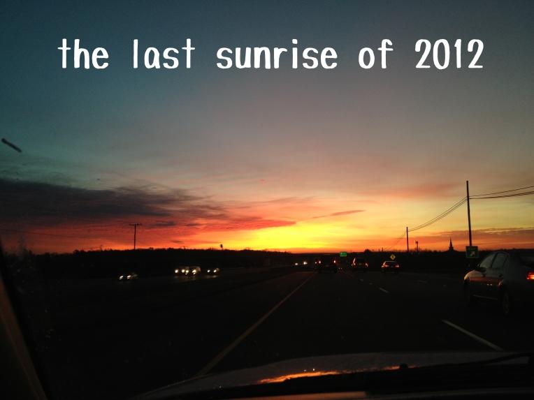 Last Sunrise of 2012